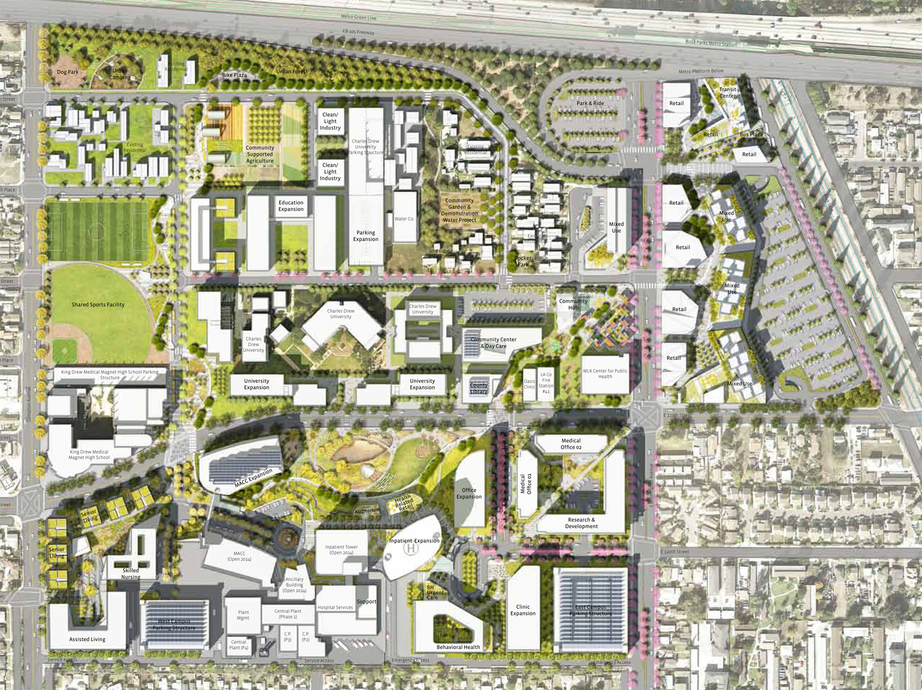 Martin Luther King, Jr. Hospital Campus Master Plan
