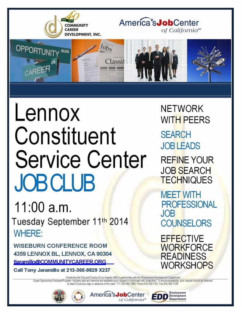 lennox_center_jobclubsept2014