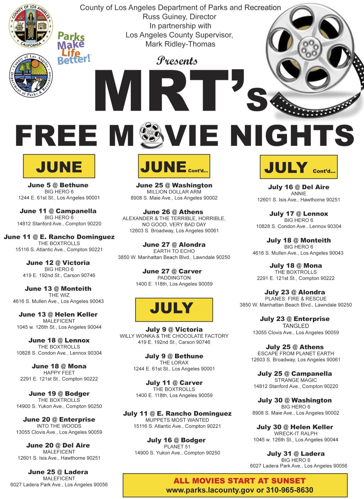FINAL 2015 Summer Movie Flyer - FINAL