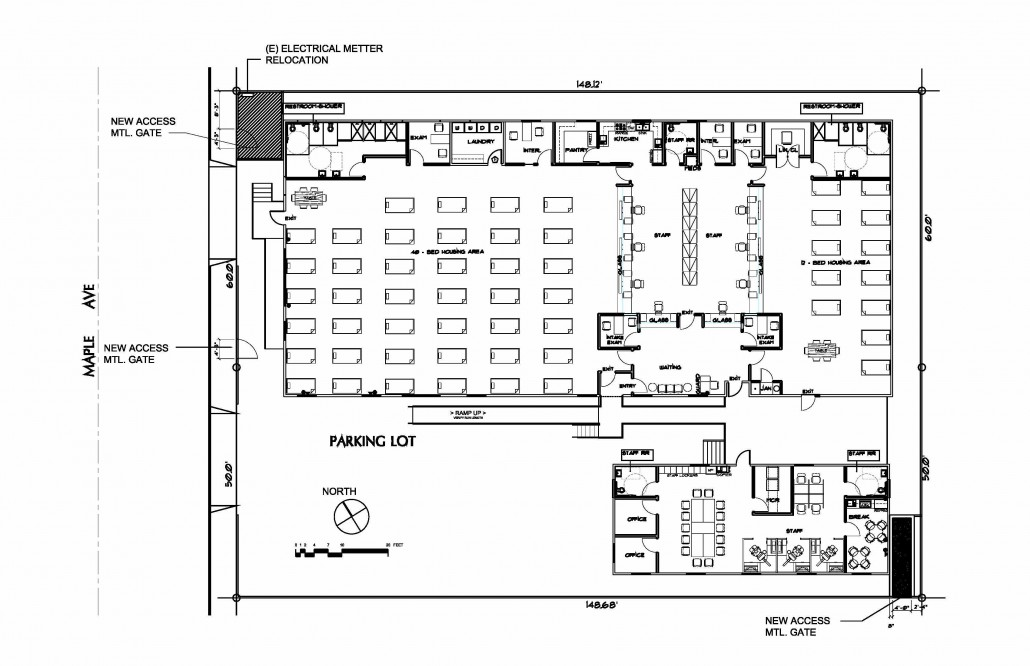 Sobering Center Floor Plan (Maple Street)