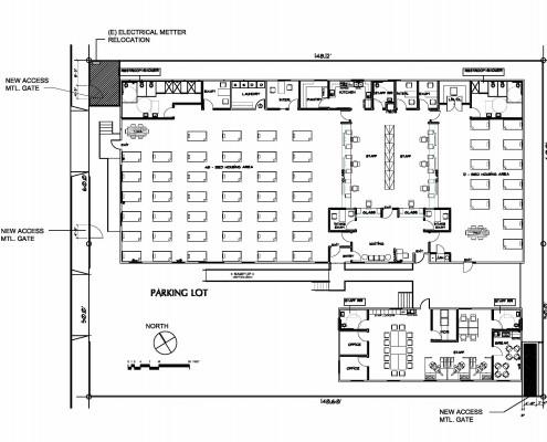Sobering Center Floor Plan (Maple Street)