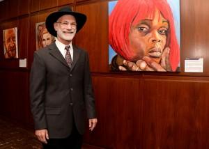 The artist, Dr. Stuart Perlman