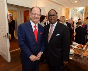 USC President C.L. Max Nikias and Board of Supervisors Chairman Mark Ridley-Thomas. Photo by Diandra Jay/Board of Supervisors