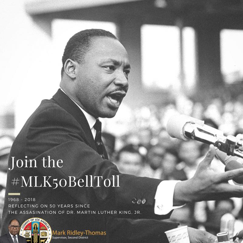 Remembering Dr Martin Luther King Jr Supervisor Mark Ridley Thomas